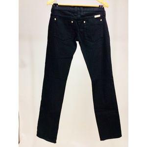 Black Frankie B. Jeans Skinnies Sz. 6 Zipper Ankle